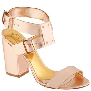 Ted Baker Lissome Metallic Strap Sandals 6.5 New